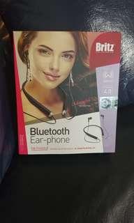 [全新] [正貨] 韓國 運動用 Britz BZ-N4000 掛頸式藍牙4.0耳機 (黑色)