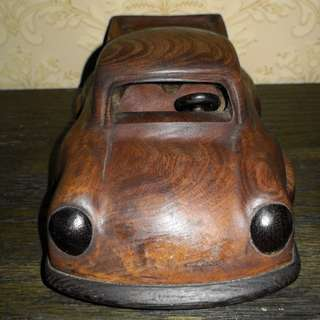 Wooden hand craving car