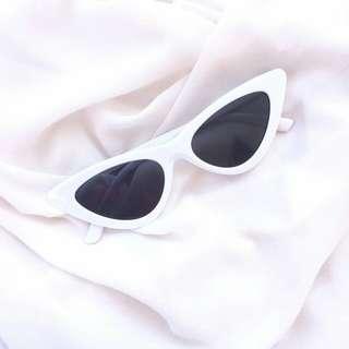 White Cat Eye Sunglasses #20under