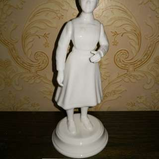 Nurse white porcelain figurine