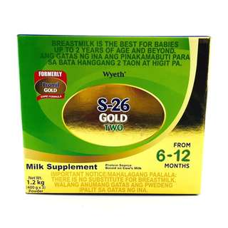 S-26 GOLD® TWO Milk Supplement for 6-12 Months, 1.2kg