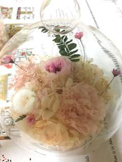 Preserved Flowers in Glass (Mother's Day Flowers)