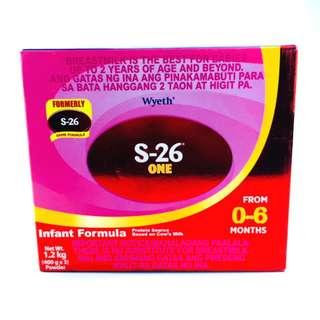 S-26® ONE Infant Formula for 0-6 Months, 1.2kg