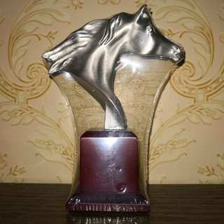 Pewter horse figurine