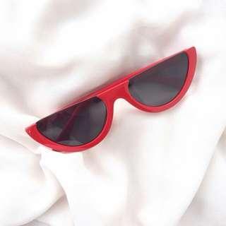 Red Half Frame Sunglasses #20under