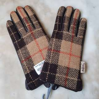 BN Tweed and Leather Women's Gloves