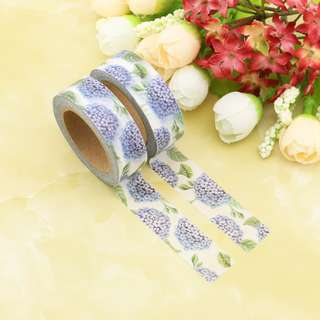 Lilac Hydrangeas QC101032 Washi Tape 15mm x 10m
