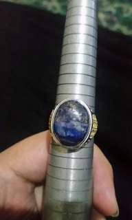 Lapis lazuli badar emas (free gift stone/Akar Bahar Ring Or Something else for every transaction $50 As long as there is still)
