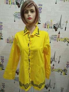 kemeja kuning fashion