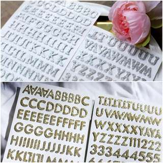 Glitter Foam Alphabet Sticker