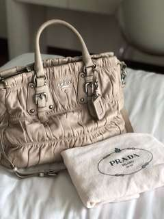 Prada Nappa Gaufre Handbag (pre-owned)