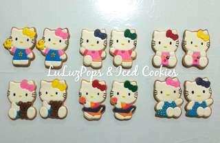 Hello Kitty Themed Sugar Cookies