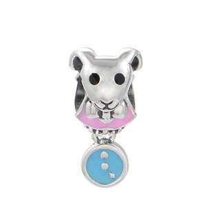 Code S111 - Clock With Dog Statue 100% 925 Sterling Silver Charm compatible with Pandora