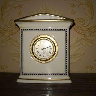 Lenox vintage porcelain table clock