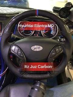 Hyundai Elantra MD Carbon Steering