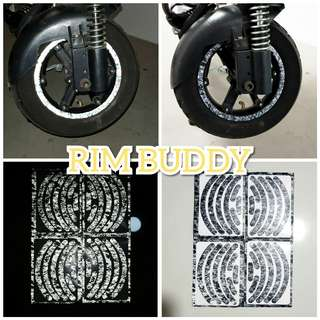"10"" Reflective Artic Camo Safety Rim Stickers for Scooters"