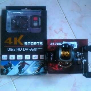 Action camera & baitcasting