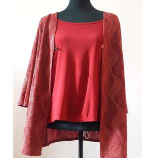 Maroon Blouse With Cotie