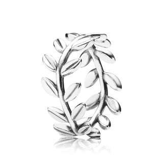 New Pandora Silver Leaf LAUREL WREATH RING Size 52 S$99