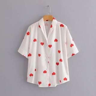 🔥Europe New Loose Lapel Collar Print Shirt