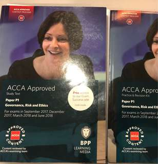 ACCA BPP P1 study text and revision kit