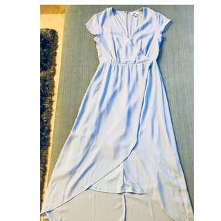 Love Bonito Asymmetric Baby Blue Dress