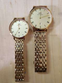 Authentic overrun quality couple watch