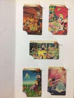 Phone Cards Disney and Kodak 1995