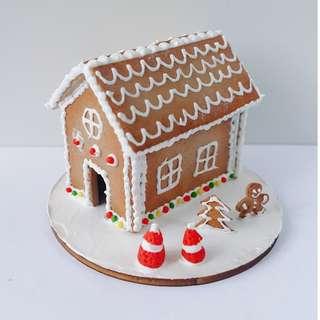 迷你聖誕薑餅屋 袖珍黏土