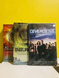 Divergent book 2 & 3 plus diverget the initiates world