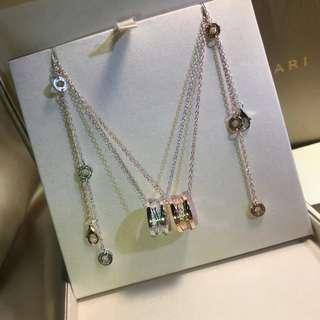 Bv diamond twist necklace