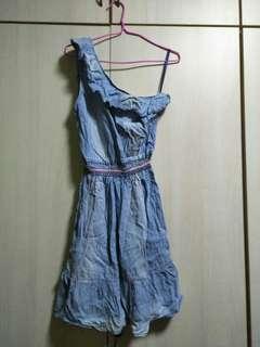 Bianco Off Shoulder demin dress
