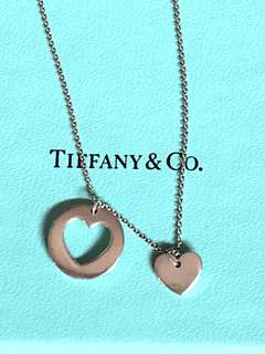 Authentic Tiffany Cut Out Hearts Necklace