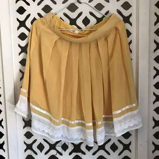 Goldilocks Yellow Skirt