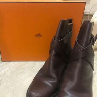 Hermes boots with wedges or heels 3cm brown