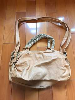 Japan bought genuine leather long strape bag