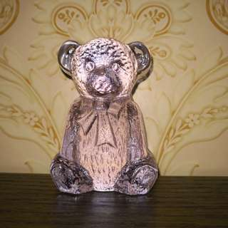 Glass Teddy bear figurine