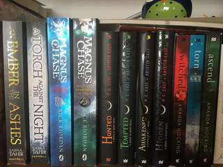 Throne of Glass series, switched series, ember of ashes series, P.C cast books