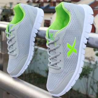 Grey Criss Cross Green Sneaker Sport shoes