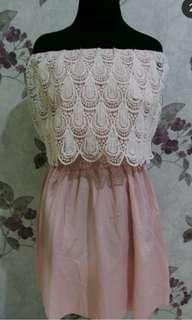 DRESS / TERUSAN WANITA / DRESS PINK / DRESS SABRINA