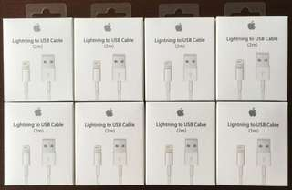 "Apple lightning cable with box and manual ""Lowest price in town"" Order now!"