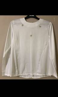 HF by ZS White Satin Top