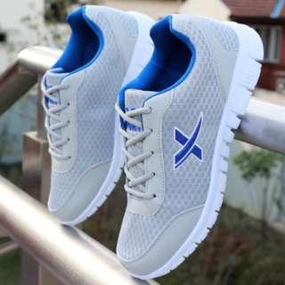 Grey Criss Cross Blue Sneaker Sport shoes