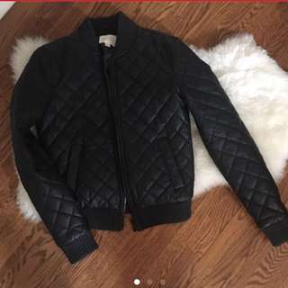 BRAND NEW SILENCE AND NOISE URBAN OUTFITTERS VEGAN LEATHER JACKET