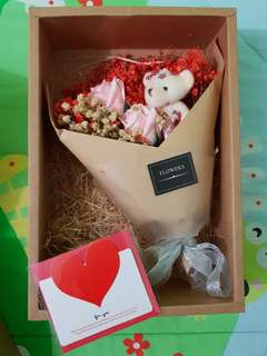 Flower with bear Gift Set