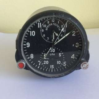 Russian Military Jet Cockpit Clock