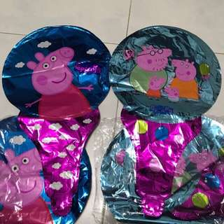Birthday party hand held balloon paw patrol peppa pig 🐽