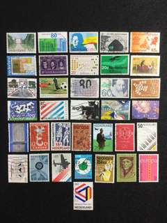Netherlands (Holland) 35 Different Used Stamps (Set A)