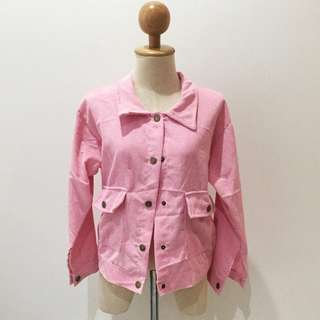 🆕Brand New Pink Velvet Outer Jacket