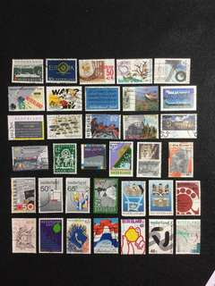 Netherlands (Holland) 35 Different Used Stamps (Set B)
